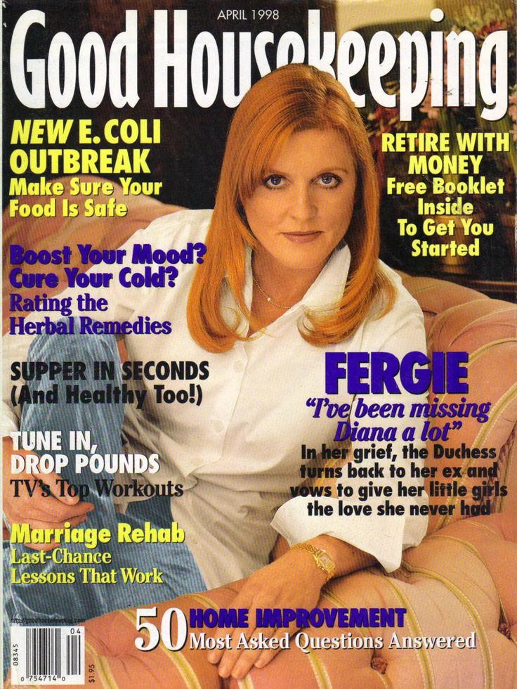 April 1998 issue of Good Housekeeping magazine - Fergie