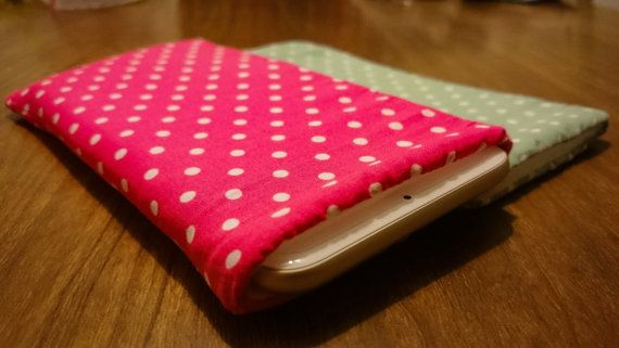 Check out this item on Etsy:  https://www.etsy.com/uk/listing/264875015/polka-dot-iphone-sleeve