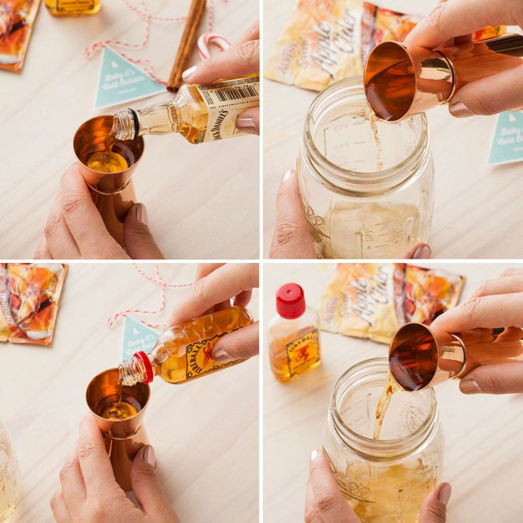 Combine powdered apple cider mix, Jack Daniels + Fireball for a warming holiday cocktail.