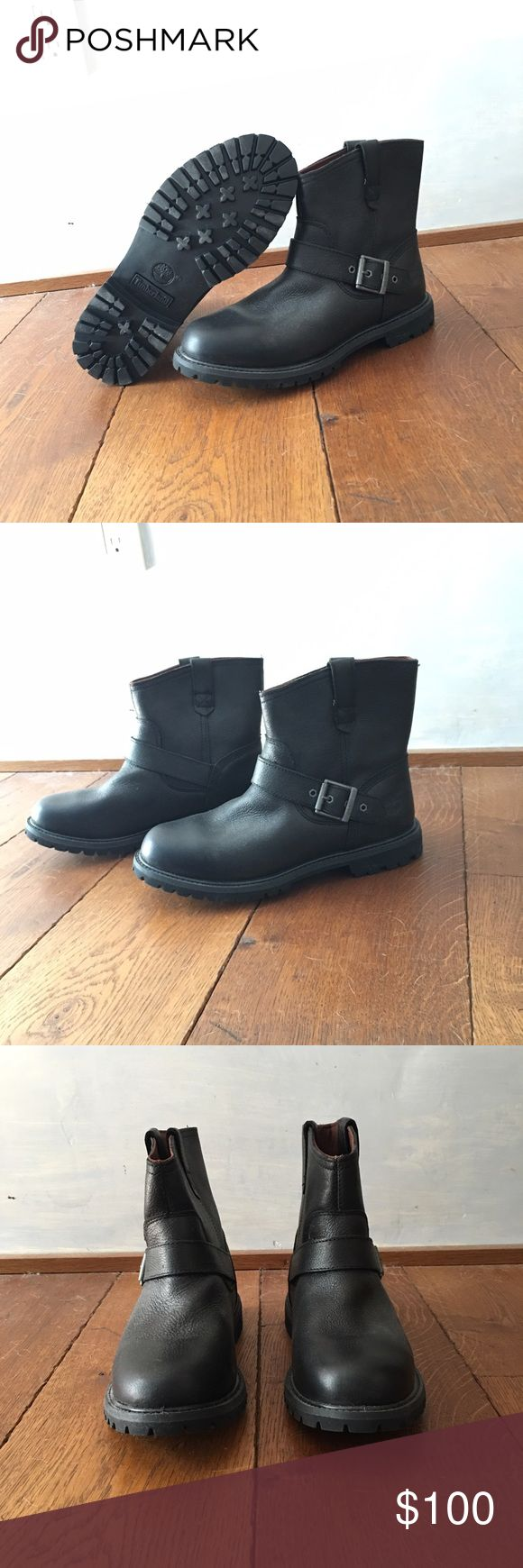 NBW leather timberland boots Brand new, never been worn, size 9, Timberland boots. Perfect for the upcoming fall and winter! Timberland Shoes Winter & Rain Boots