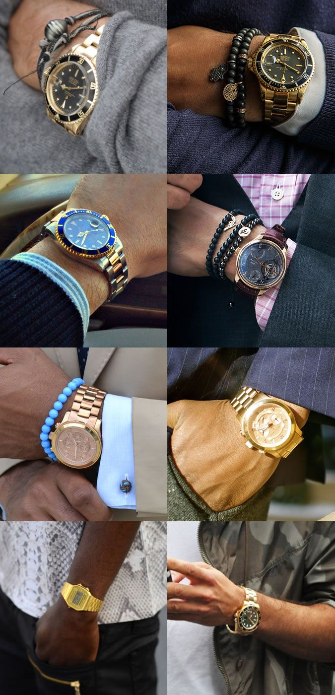 Men's Gold and Rose Gold Watches