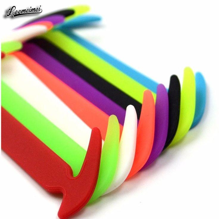 12 Unids/set Moda UnisexShoelaces Silicona Impermeable Elástico Sin Corbata Cordón de Zapato de Diseño Para Una Fácil Extracción y de Bloqueo