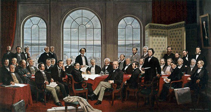 Fathers of Confederation by Rex Woods. #canadianhistory