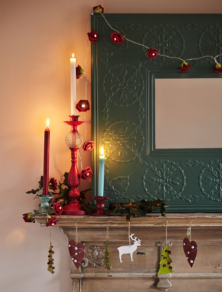 Christmas mantlepiece display by Carolyn Donnelly Eclectic