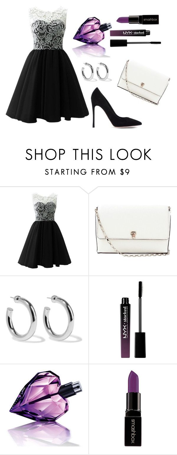 """""""Untitled #179"""" by electraz on Polyvore featuring Valextra, Sophie Buhai, NYX, Diesel, Smashbox and Gianvito Rossi"""