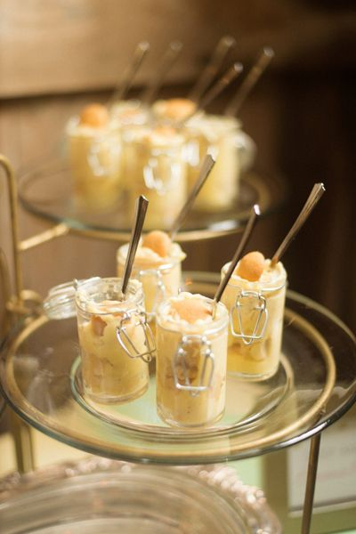 mini banana pudding | Justin & Mary #wedding