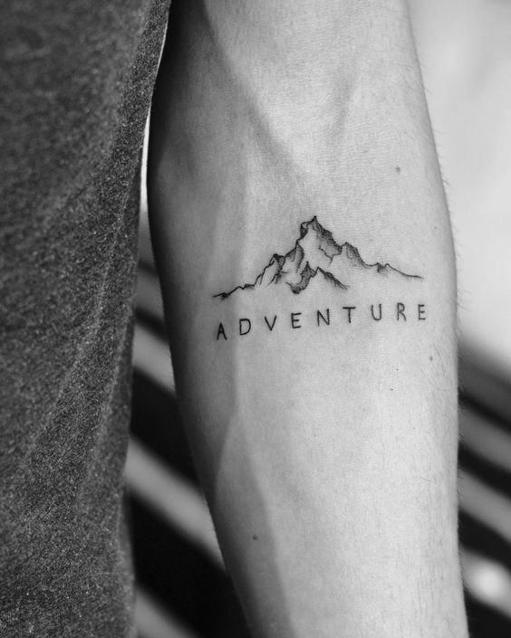 40 Fabulous Mountain Tattoo Designs #TravelTattoo