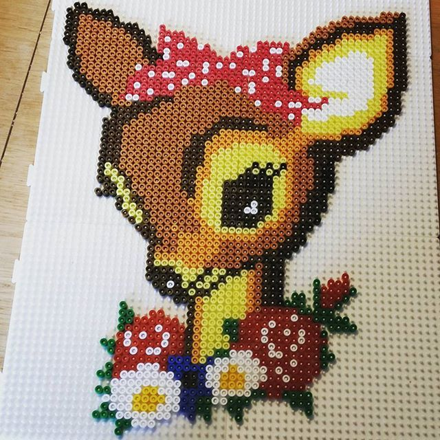 Fawn perler beads by mariabenedicte