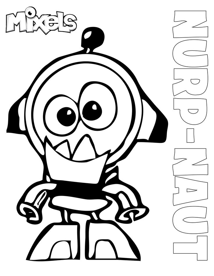 lego mixels coloring pages - mixel coloring page nurp naut coloring pages pinterest