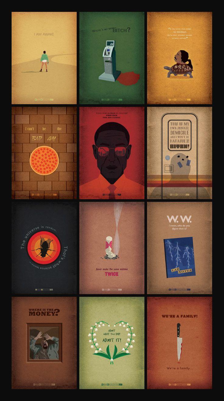 Designer homenageia Breaking Bad em série de pôsteres