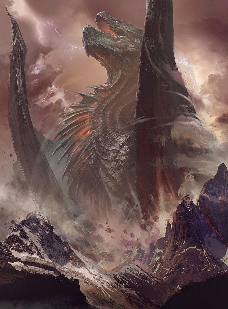 """fantasyartwatch: """" Dragon Rising by Bayard Wu """""""