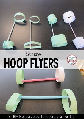 STEM Challenges: Straws are such a great material to use for your STEM projects. They are easy to use, come in many colors and sizes, and they are inexpensive! Here's a flying project that used different sizes of straws for the flyer!