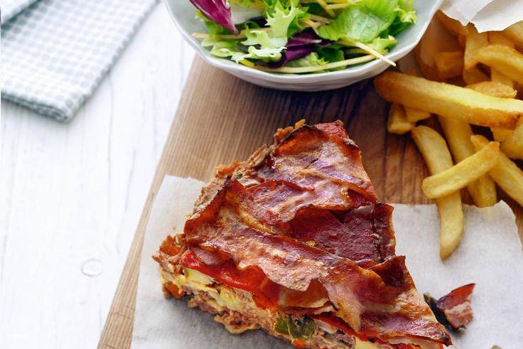 Kijk wat een lekker recept ik heb gevonden op Allerhande! Gehaktbrood, ovenfrites en salade