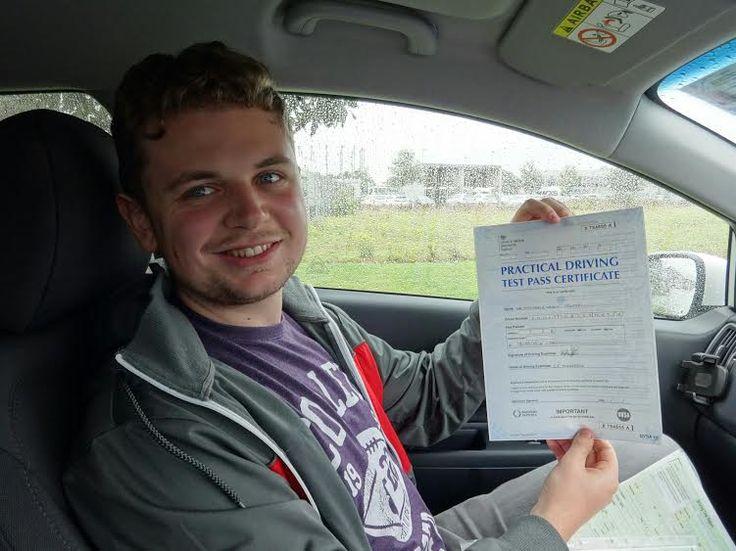 """Congratulations to Matthew Foletti for passing his driving test on the 18th of August 2015. I wish him all the best for his driving and his future as an """"Economist"""" (I don't know what one of these is and it was far too complicated to ask whilst we were driving) from driving instructor Alan Hardy."""