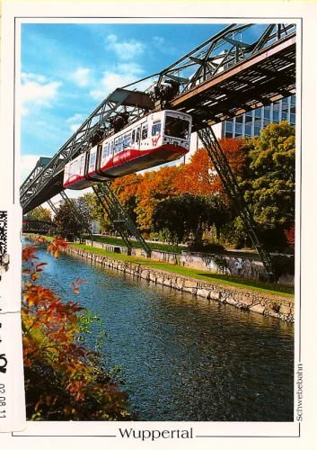 Schwebebahn (air train), Wuppertal, Germany