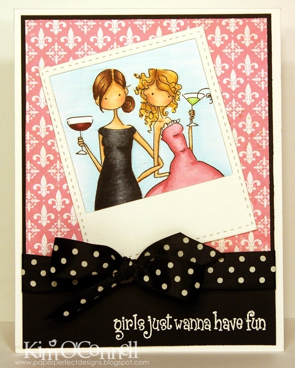 """Paper Perfect Designs by Kim O'Connell: Stamping Bella """"Uptown Girls Victoria and Juliette's Night Out"""""""