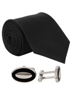 Black Tie & Cufflinks Set Price: Rs.1499