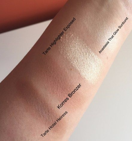 Tarte hotel heiress bronzer vs korres bronzer vs. anastasia glow kit highlighter - Makeup review