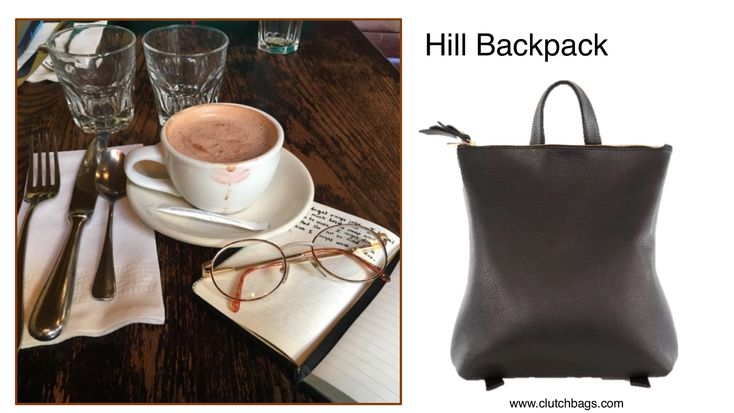 A cup of coffee, my journal and my #HillBackpack by #ShanaLuther are all I need to start my day. What about you? Inspired by many things, Shana Luther creates an urban lifestyle that fits seamlessly into any New York City woman's wardrobe. Shop it today @ Clutchbags.com Made in USA. Clutch It and Go! www.clutchbags.com  https://www.clutchbags.com/shana-luther #shanalutherhandbags #independentdesigner #emergingdesigner #slowfashion #slowfashionmovement #knowyourbag #locallymade #smallbatch…