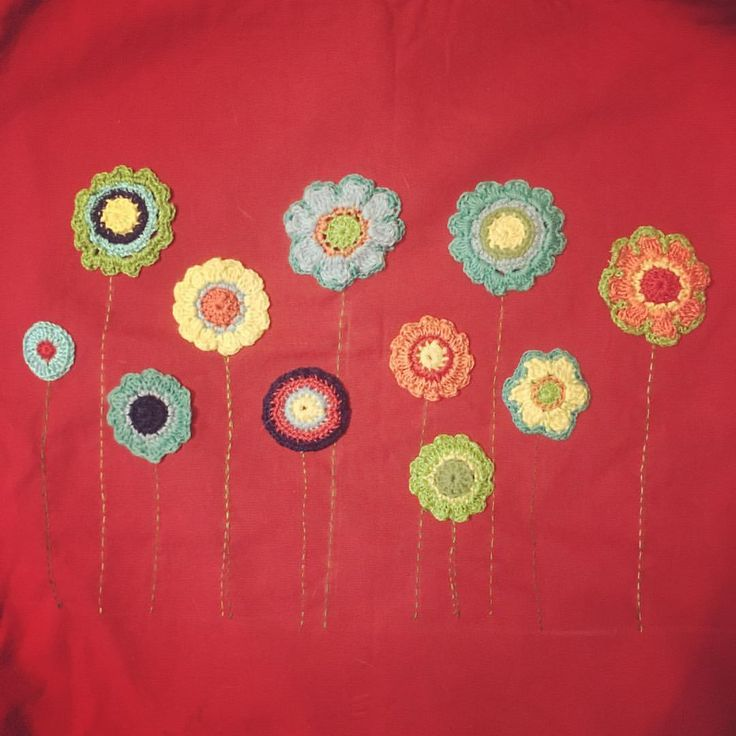 "28 Likes, 4 Comments - @margraff on Instagram: ""Work in progress combining crochet with a little (very rough!) embroidery. #handmade . . . . . .…"""