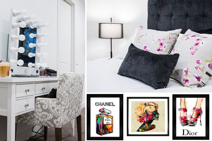 Teenager bedroom design and decor elements.