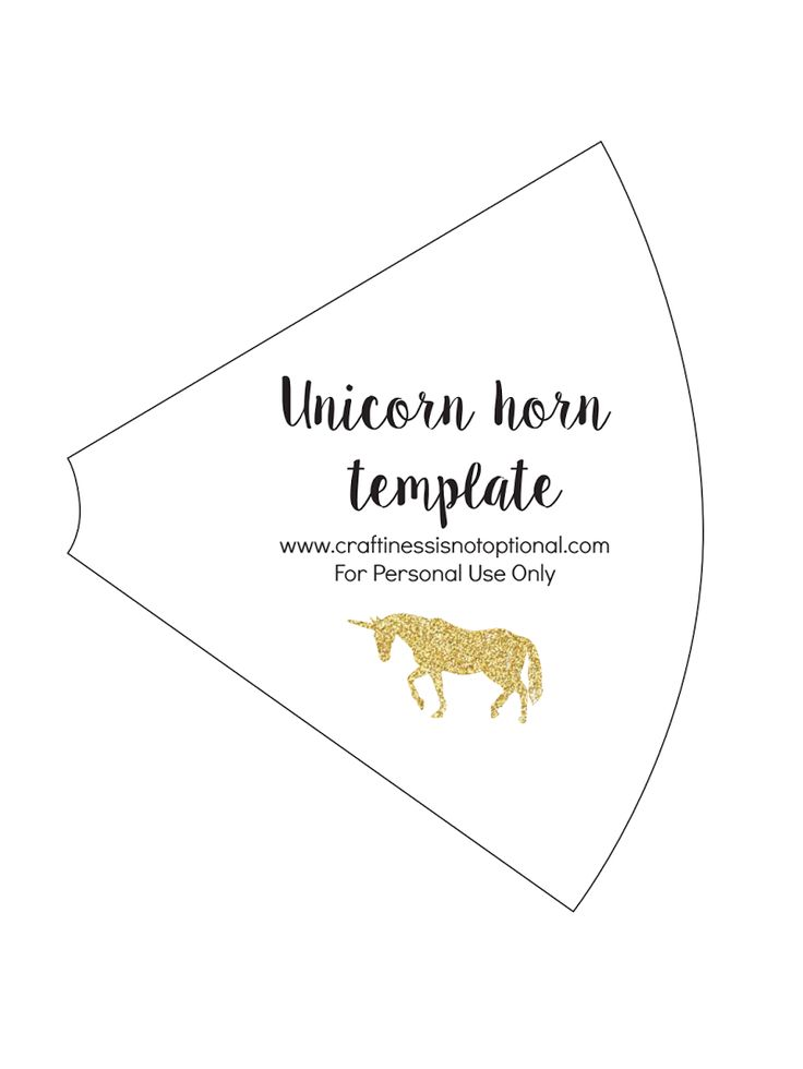 Unicorn horn template