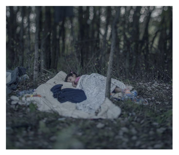 Powerful Images Showing Where Young Syrian Refugees Sleep