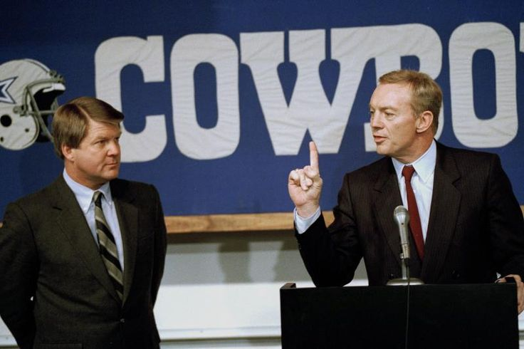 Jones was lambasted by many for his decision to fire Tom Landry and hire Jimmy Johnson as the Cowboys coach in 1989.