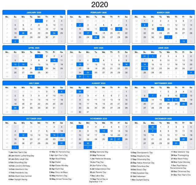 Free Printable Jewish Calendar 2020 Template Us Holiday Calendar