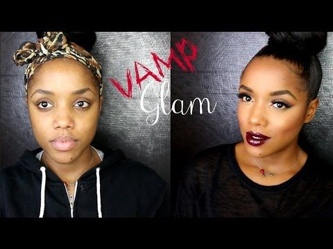 Vampy Glam Holiday Party Makeup - YouTube