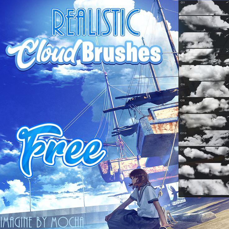 Free realistic cloud brushpack! in 2020 Procreate