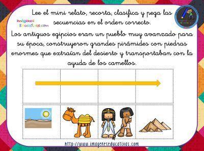 Secuencias temporales con pictogramas, lee, recorta y clasifica. -Orientacion Andujar