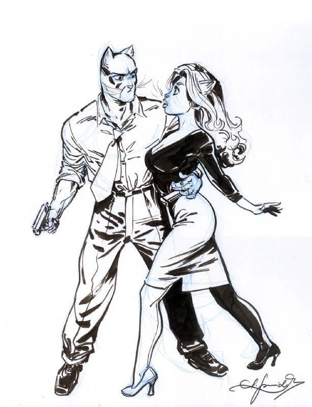Juanjo Guarnido : Blacksad Pinup Comic Art