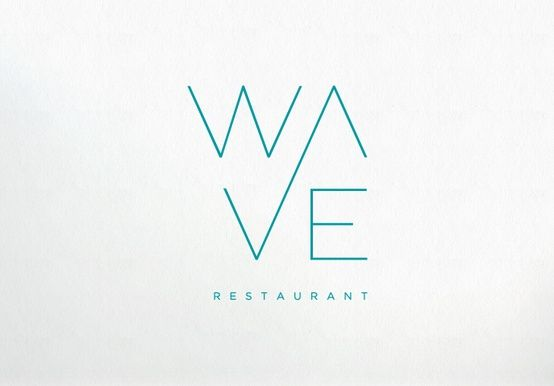 Wave Restaurant Logo | #flat #minimal #design #logo #inspiration #business #marketing #advertising
