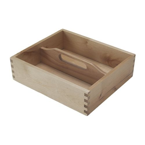 FÖRHÖJA Cutlery tray IKEA The handle make it easy to carry from a drawer to a table and back. Ideal for storage of flatware, spices, pens etc. (I would paint a rustic look and use for decoration, like center piece with mason jars)