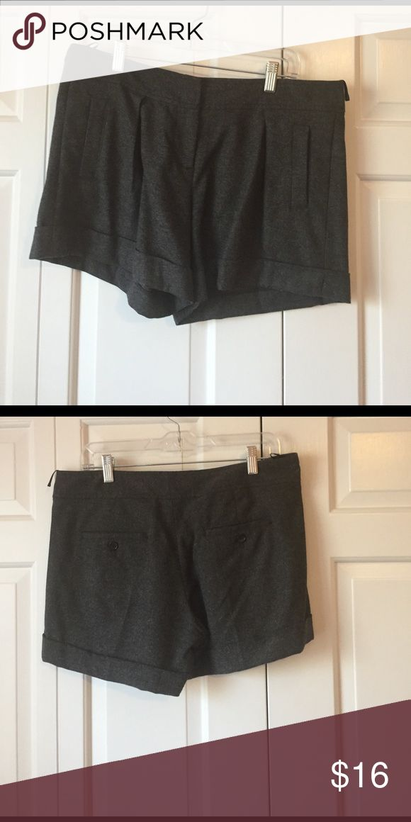 French Connection wool gray shorts. EUC gray wool dressy shorts. Adorable. Has pockets! French Connection Shorts