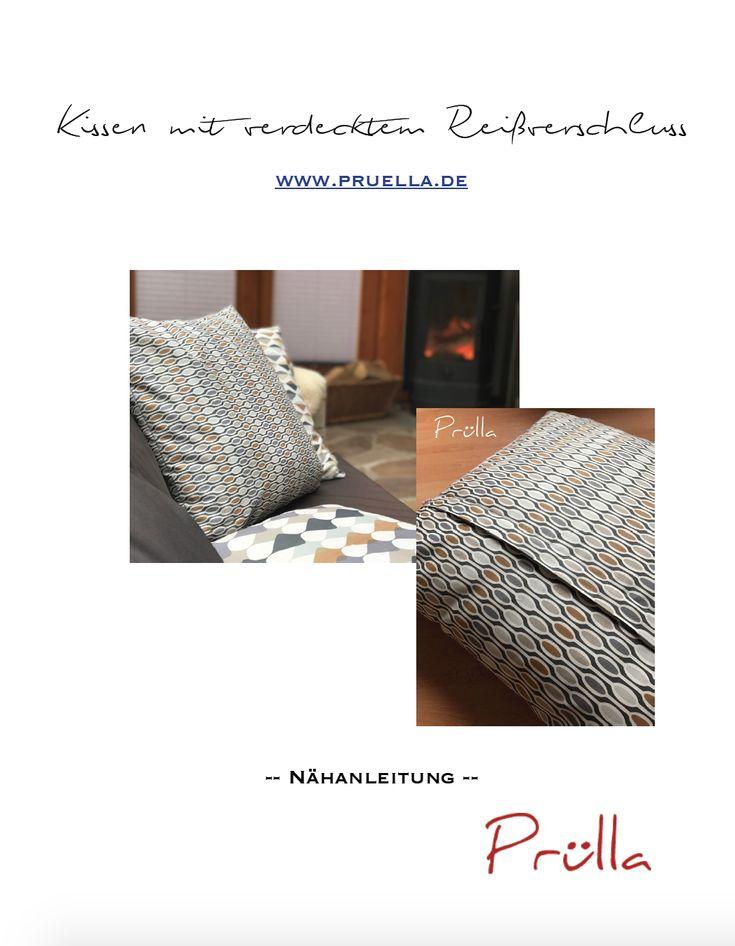 Tutorial/ Anleitung für Kissenbezüge mit verdecktem Reißverschluss