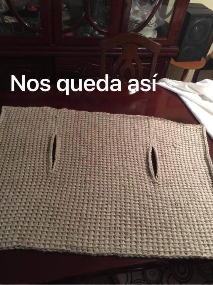 Foto tutorial de armilla (o chaleco) hecha con ganchillo tunecino