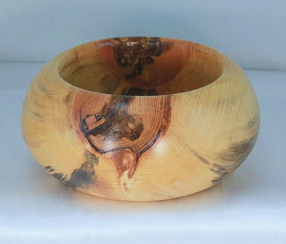 Wooden bowl hand turned bowl home decor couples gift five