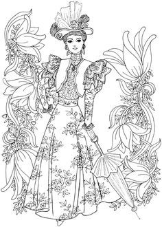 Creative Haven Art Nouveau Fashions Coloring Book If Youre In The