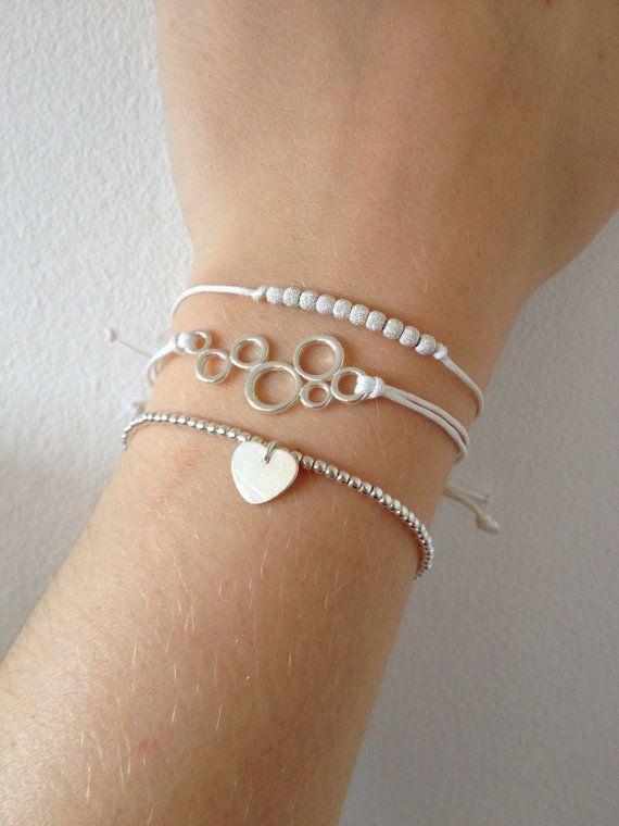 Set van drie 925 sterling zilveren armbanden met door MadeByLeave