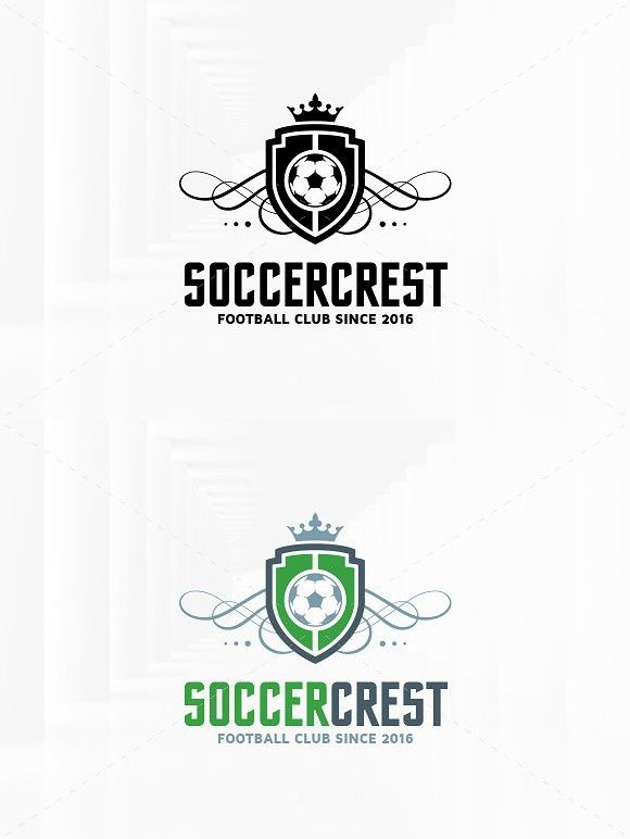 soccer crest logo template club design pinterest logo