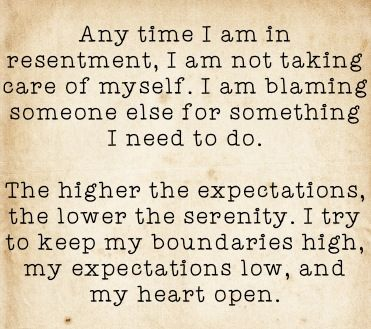 boundaries high, expectations low & heart open! Working the 12 steps of #recovery