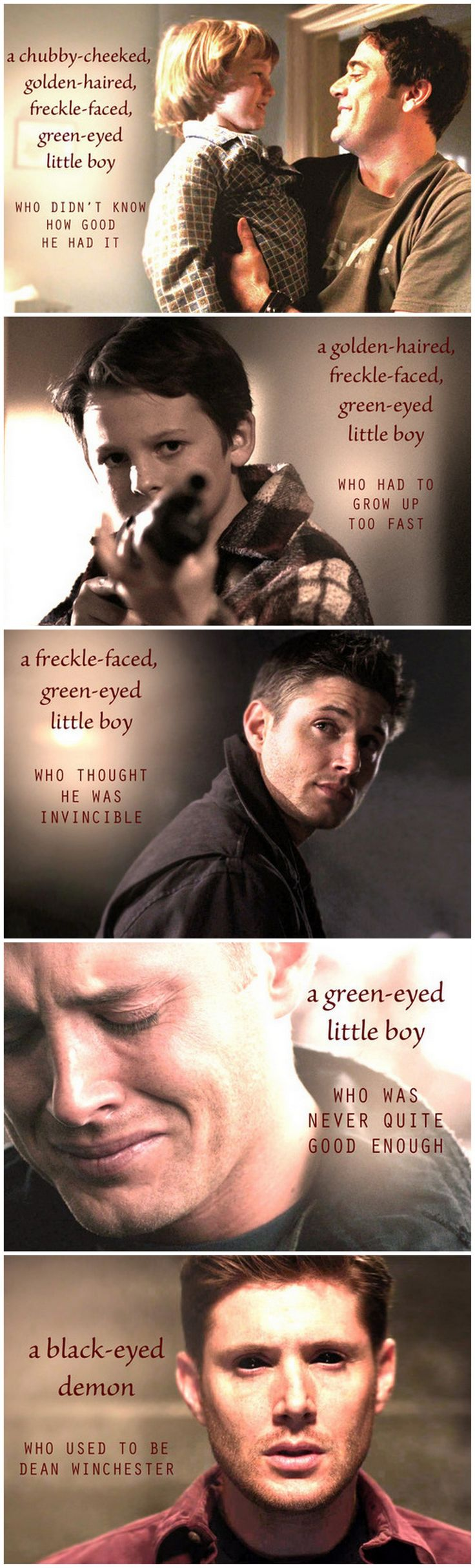 Dean Winchester growing up - I didn't need this. Now what am I supposed to do with all these feels?!