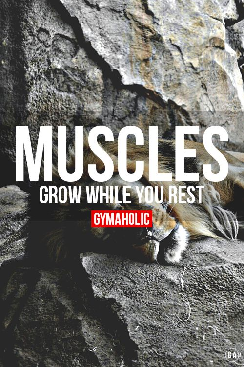 YES...rest is crucial to muscle growth!