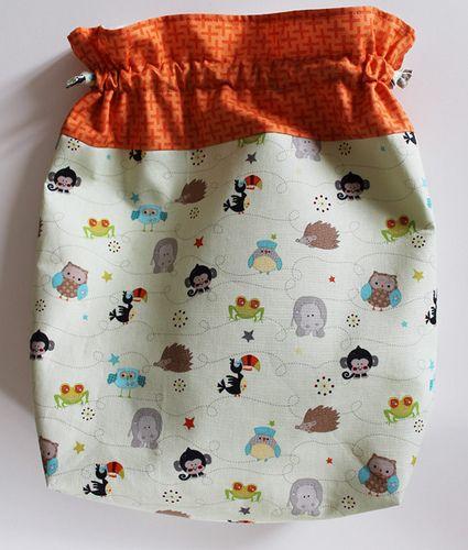 Tutorial: come creare un sacchetto di stoffa per l'asilo o per mille altri usi | La giraffa