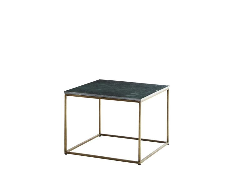 GREEN MARBLE COFFEE TABLE ANT.BRASS BASE