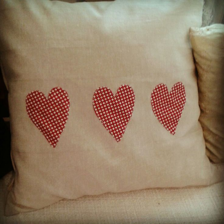 Pillow with hearts