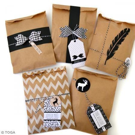 Kit creativo Envolver regalos en kraft - Toga - 20 paquetes - Fotografía n°2