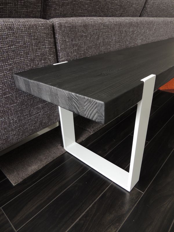 Wood And Steel Modern Industrial Bench